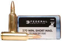 Federal Power-Shok 270 WSM 130gr SP Ammo - 20 Rounds