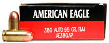 American Eagle 380 ACP 95gr FMJ Ammo - 50 Rounds