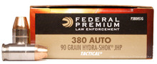 Federal Premium Law Enforcement 380 ACP 90gr Hydra-Shok® - 50 Rounds
