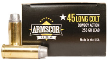 Armscor 45 Long Colt 255gr Lead SWC Ammo - 50 Rounds