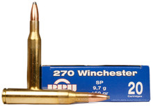 Prvi Partizan .270 Win 150gr Soft Point Ammo - 20 Rounds