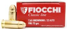 Fiocchi 32 ACP 73gr FMJ Ammo - 50 Rounds
