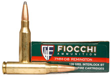 Fiocchi Shooting Dynamics 7mm-08 Remington 139gr BTSP Ammo - 20 Rounds