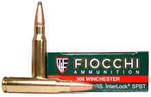Fiocchi Shooting Dynamics .308 Winchester 165gr Interloc SP Ammo - 20 Rounds
