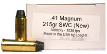 Load-X 41 Magnum 215gr SWC New Ammo - 50 Rounds