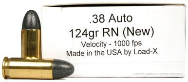 Ventura Heritage 38 Auto 124gr RN New Ammo - 50 Rounds