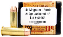 Ventura Heritage 41 Magnum 210gr JHP New Ammo - 50 Rounds