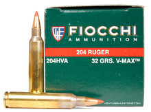 Fiocchi 204 Ruger 32gr V-Max Ammo - 50 Rounds