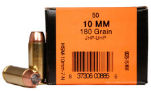 HSM 10mm Auto 180gr UHP JHP Ammo - 50 Rounds