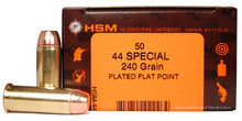 HSM 44 Special 240gr Plated FP Ammo - 50 Rounds