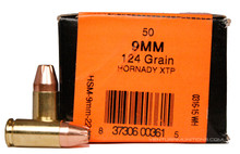 HSM 9mm 124gr XTP Subsonic Ammo - 50 Rounds