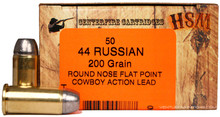 HSM 44 Russian 200gr RFP Lead Ammo- 50 Rounds