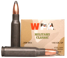 Wolf Military Classic .308 Win 140gr Soft Point Ammo - 20 Rounds
