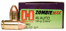 Hornady Zombie Max 45 ACP 185gr Z-Max Ammo - 20 Rounds