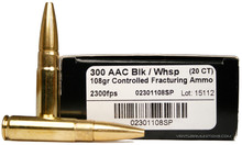 Lehigh Defense 300 AAC Blackout/Whisper 108gr Controlled Fracture Ammo- 20 Rounds