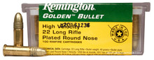 Remington Golden Bullet 22LR 40gr HV RN Ammo- 100 Rounds