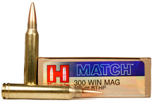 Hornady Match Rifle 300 Winchester Magnum 195gr BTHP Ammo - 20 Rounds