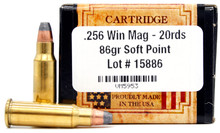 Ventura Heritage 256 Winchester Magnum 86gr SP New Ammo - 20 Rounds