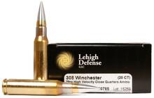Lehigh Defense 308 Winchester 79gr High Velocity Close Quarters Ammo - 20 Rounds