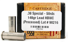 Ventura Heritage .38 Special 148gr HBWC Remanufactured Ammo - 50 Rounds