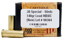 Ventura Heritage .38 Special 148gr HBWC New Ammo - 50 Rounds