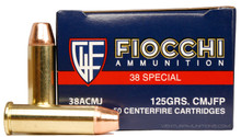 Fiocchi Shooting Dynamics 38 Special 125gr CMJ FP Ammo - 50 Rounds
