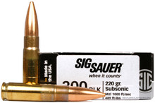 Sig Sauer Elite Performance .300 AAC Blackout 220gr Subsonic OTM Ammo - 20 Rounds