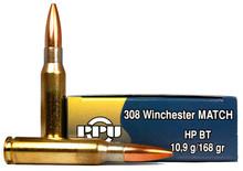 Prvi Partizan 308 Winchester 168gr Match BTHP Ammo - 20 Rounds