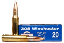 Prvi Partizan 308 Winchester 165gr SPBT Ammo - 20 Rounds