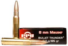 Prvi Partizan 8mm Mauser Thunder 185gr SP Ammo - 20 Rounds