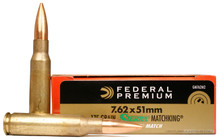 Federal Gold Medal Match 7.62x51 175gr BTHP Ammo - 20 Rounds