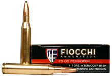 Fiocchi Extrema .25-06 Remington 117gr Interlock BTSP Ammo - 20 Rounds