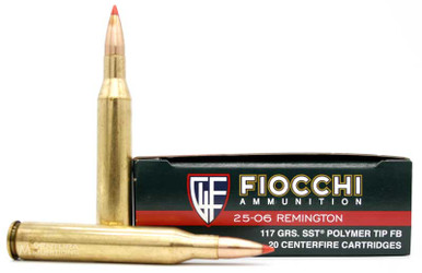 Fiocchi Shooting Dynamics .25-06 117gr SST Ammo - 20 Rounds