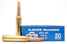 Prvi Partizan 6.5x55 Swedish Mauser 139gr FMJ Ammo- 20 Rounds