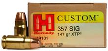 Hornady Custom 357 Sig 147gr XTP/JHP Ammo - 20 Rounds