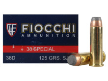 Fiocchi Shooting Dynamics 38 Special 125gr SJSP Ammo - 50 Rounds