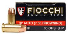 Fiocchi 32 ACP 60gr JHP - 50 Rounds