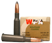 Wolf Military Classic 7.62x54r 203gr SP Ammo - 20 Rounds