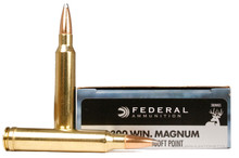 Federal Premium Power Shok 300 Winchester Magnum 150gr Speer Hot-Cor SP Ammo - 20 Rounds