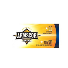Armscor USA 22 TCM 9R 39gr JHP Ammo - 50 Rounds