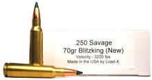 Ventura Heritage 250 Savage 70gr Blitzking Ammo - 20 Rounds