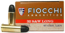 Fiocchi Shooting Dynamics 32 S&W Long 97gr LFP Ammo- 50 Rounds