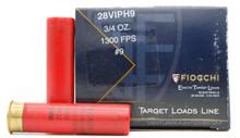 "Fiocchi Exacta Target 28ga 2.75"" 3/4oz #9 Ammo - 25 Rounds"