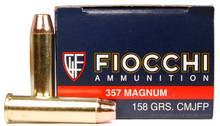 Fiocchi Shooting Dynamics 357 Magnum 158gr CMJ-FP Ammo - 50 Rounds