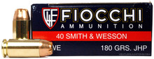 Fiocchi Shooting Dynamics 40 S&W 180gr JHP Ammo - 50 Rounds