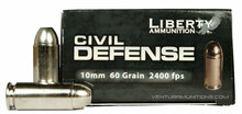 Liberty Civil Defense 10mm 60gr HP Ammo - 20 Rounds