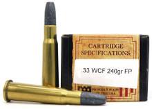 Ventura Heritage .33 WCF 240gr FP Ammo - 20 Rounds