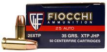 Fiocchi 25 ACP 35gr XTP/HP 50 Rounds