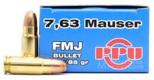 Prvi Partizan 7.63 Mauser 85gr FMJ Ammo - 50 Rounds