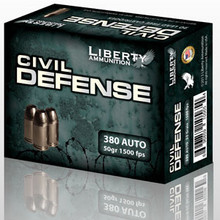 Liberty Civil Defense 380 ACP 50gr HP Ammo - 20 Rounds